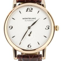 Montblanc Rose gold Automatic Silver 39mm pre-owned Star Classique