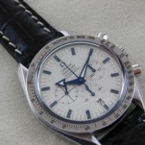 Omega Speedmaster Broad Arrow Acier 42mm Blanc