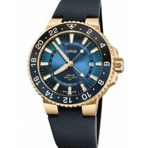 Oris Yellow gold Automatic Blue No numerals 43.5mm new