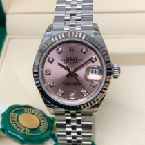 Rolex Lady-Datejust pre-owned 28mm Pink Date Steel