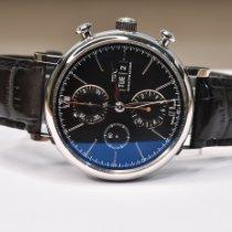 IWC Portofino Chronograph Acero 42mm Negro Sin cifras