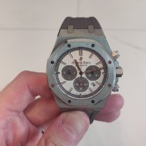 Audemars Piguet Titanium Automatic Silver No numerals pre-owned Royal Oak Chronograph