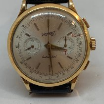 Eberhard & Co. White gold Manual winding Silver 40mm pre-owned Extra-Fort