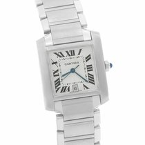 Cartier Tank Française Steel 32mm Silver Roman numerals United States of America, New York, Massapequa Park