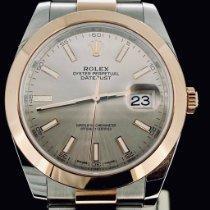 Rolex Datejust II Or/Acier 41mm Gris Sans chiffres