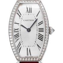 Cartier Tonneau Weißgold 21mm