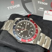 Tudor Steel Automatic Black No numerals 41mm new Black Bay GMT