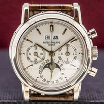 Patek Philippe Perpetual Calendar Chronograph Oro blanco 36mm Plata