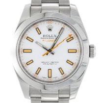 Rolex Milgauss Steel 40mm White No numerals