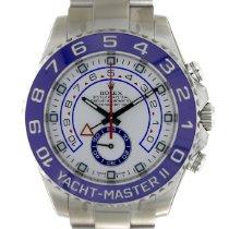 Rolex Yacht-Master II Acero 44mm Blanco Sin cifras
