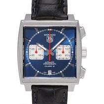 TAG Heuer Monaco Calibre 12 Steel 39mm Blue No numerals United States of America, Florida, Hollywood