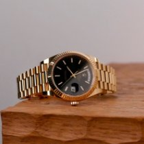 Rolex Day-Date 40 Or jaune 40mm Noir France, Paris