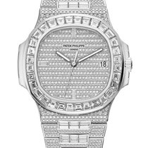 Patek Philippe Nautilus White gold 40mm Silver No numerals United States of America, New York, New York