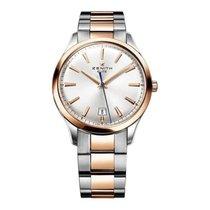 Zenith Captain Central Second nuevo Automático Reloj con estuche y documentos originales 512020670/01M2020