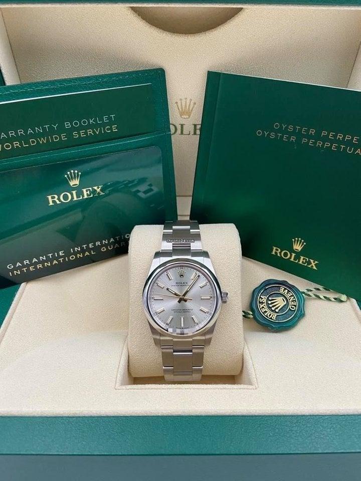 Rolex Oyster Perpetual 34 124200 2021 новые
