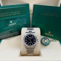 Rolex Oyster Perpetual 34 Steel 34mm Black No numerals United States of America, New York, New York