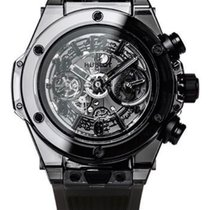 Hublot Carbon Automatic Black Arabic numerals 45mm new Big Bang Unico