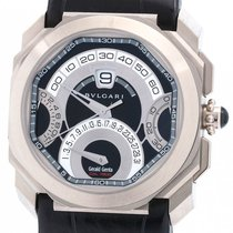 Bulgari White gold Automatic Black 45mm pre-owned Octo