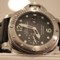 Panerai pre-owned Automatic 44mm Black Sapphire crystal 30 ATM