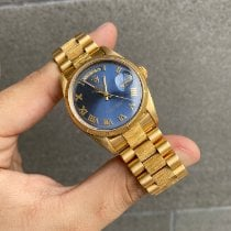 Rolex Day-Date 36 Yellow gold 36mm Blue No numerals United States of America, Florida, Miami