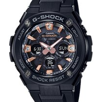 Casio new Gemstones and/or diamonds World time watch Solar watch 55.9mm Mineral Glass