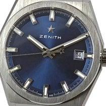 Zenith Defy Tytan 41mm Niebieski Bez cyfr