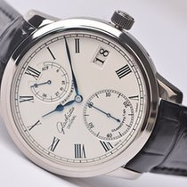 Glashütte Original Senator Chronometer occasion 42mm Argent Date Cuir de crocodile
