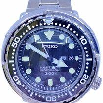 Seiko pre-owned Quartz 48mm Black 30 ATM