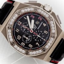Audemars Piguet White gold Automatic Black Arabic numerals 48mm pre-owned Royal Oak Offshore Chronograph