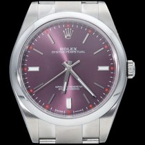 Rolex Oyster Perpetual 39 Staal 39mm Paars Geen cijfers