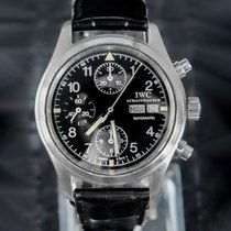 IWC Pilot Chronograph Acero 39mm Negro Arábigos
