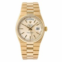 Rolex Day-Date Oysterquartz Yellow gold 36mm Silver
