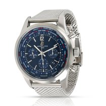 Breitling Transocean Unitime Pilot pre-owned 46mm Blue Steel