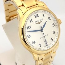 Longines Yellow gold Automatic White No numerals 40mm Master Collection
