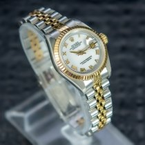 Rolex Lady-Datejust Acero y oro 26mm Blanco Romanos