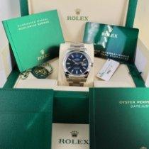 Rolex Datejust Acier 41mm Bleu Sans chiffres