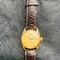 劳力士 Oyster Perpetual 黄金 34mm 银色 无数字