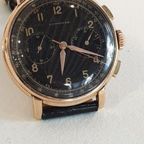 Longines Or rose 38mm Remontage manuel LONGINES  13 ZN Chronograph Flyback occasion France, Paris