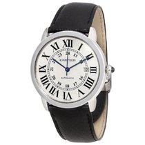 Cartier Ronde Croisière de Cartier Steel 42mm Silver Roman numerals United States of America, New York, New York