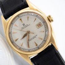 Rolex Bubble Back Желтое золото 36mm Белый Без цифр