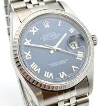 Rolex Datejust Acier 36mm Bleu Romains