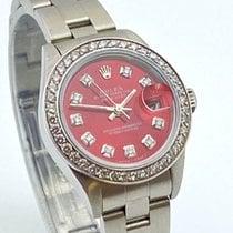 Rolex Oyster Perpetual Lady Date Acier 26mm Rouge Sans chiffres