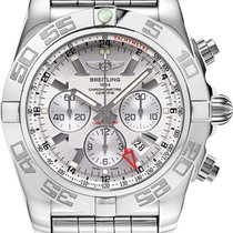 Breitling Chronomat GMT Steel 47mm Silver No numerals United States of America, New Jersey, Edgewater