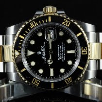 Rolex Submariner Date occasion 40mm Noir Date Or/Acier