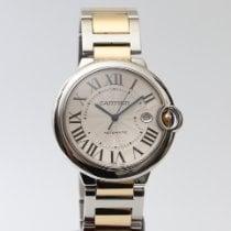 Cartier Ballon Bleu 42mm Złoto/Stal 42mm Srebrny Rzymskie