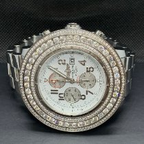 Breitling Super Avenger pre-owned 48mm White Chronograph Date Steel