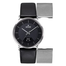 Junghans Milano Steel 39.2mm Black No numerals