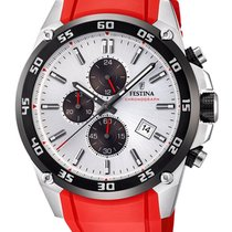 Festina new Quartz Luminous hands Luminous indices 47mm Steel Mineral Glass