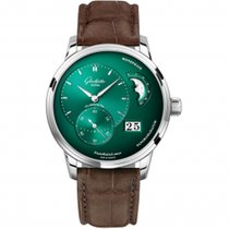 Glashütte Original PanoMaticLunar Steel 40mm Green United States of America, Pennsylvania, Holland