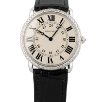 Cartier White gold Manual winding White Roman numerals 36mm pre-owned Ronde Louis Cartier